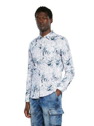 Desigual bílo-modrá pánská košile Cam Angelo