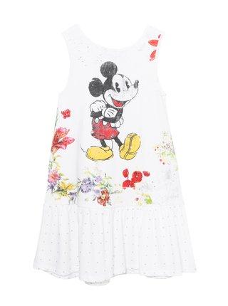 Desigual biele dievčenské šaty Vest Analia