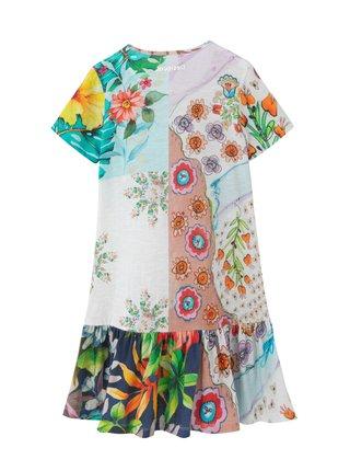 Desigual barevné dívčí šaty Vest Noemi