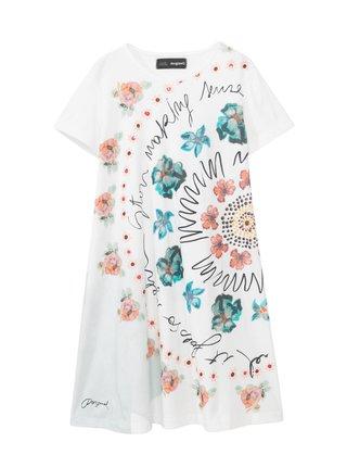 Desigual biele dievčenské šaty Vest Esther