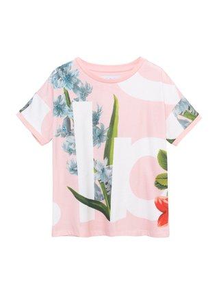 Desigual ružové dievčenské tričko TS Turin