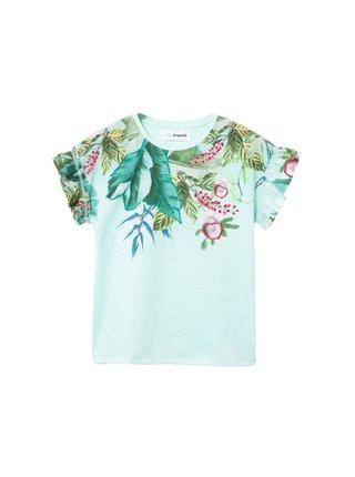 Desigual tyrkysové dívčí tričko TS Viera