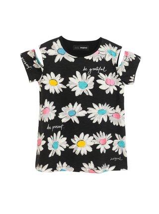 Desigual čierne dievčenské tričko TS Marsella