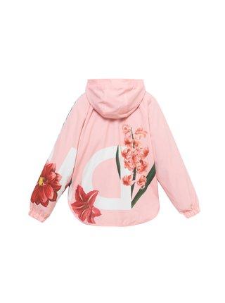 Desigual ružové dievčenská bunda Chaq Maisterra