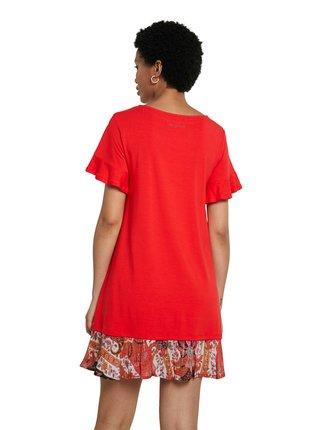 Desigual červené šaty Vest Kali