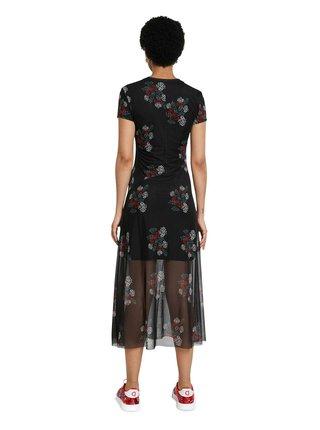 Desigual černé midi šaty Vest Estela
