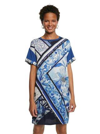 Desigual modré šaty Vest Solimar