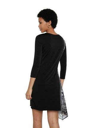 Desigual čierne šaty Vest Los Angeles