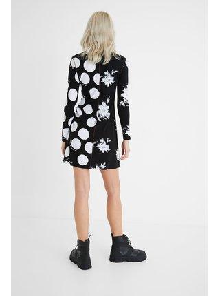 Desigual černé šaty Vest Mixras