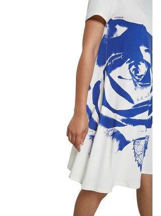 Desigual modro-bílé šaty Vest Washintong