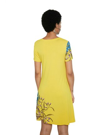 Desigual žluté šaty Vest Las Vegas