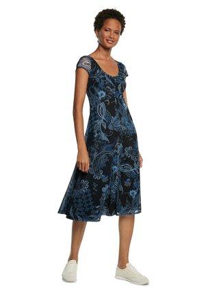 Desigual modré šaty Vest Capri
