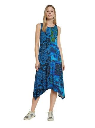 Desigual modré šaty Vest Nise