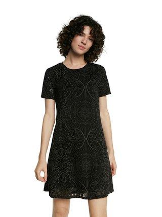 Desigual černé šaty Vest Nilo