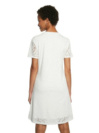 Desigual biele šaty Vest Nilo