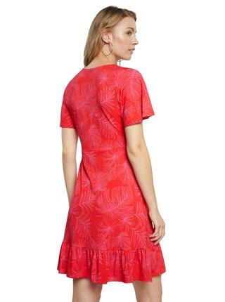 Desigual červené áčkové šaty Vest Nadia