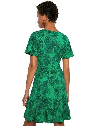 Desigual áčkové zelené šaty Vest Nadia
