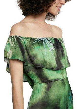 Desigual zelené letné maxi šaty Vest Tucson