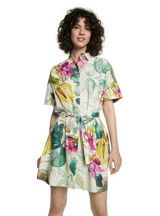 Desigual košilové šaty Vest Kodiak