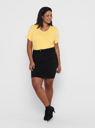 Žluté tričko ONLY CARMAKOMA