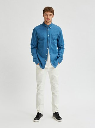 Modrá džínová košile Selected Homme Regrick