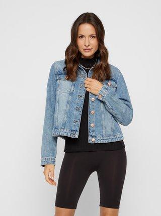 Modrá džínová bunda Pieces Lou