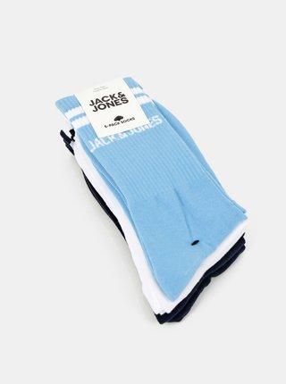 Sada piatich párov ponožiek v bielej a modrej farbe Jack & Jones Street