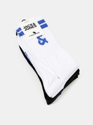 Sada piatich párov ponožiek v bielej a čiernej farbe Jack & Jones Street