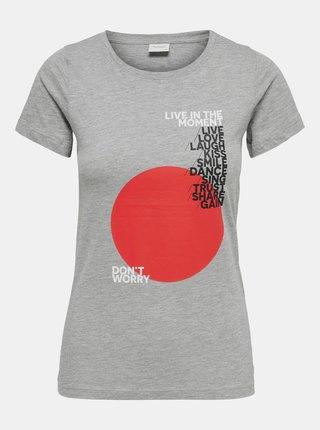 Šedé tričko s potlačou Jacqueline de Yong Chicago