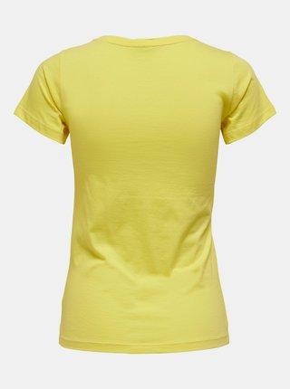 Žluté tričko s potiskem Jacqueline de Yong Chicago