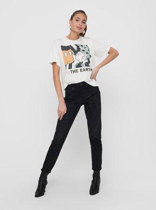 Bílé tričko s potiskem Jacqueline de Yong Nina