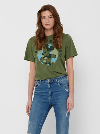 Zelené tričko s potiskem Jacqueline de Yong Nina