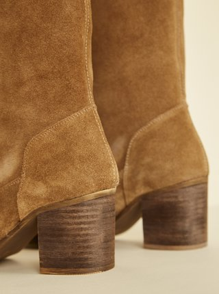 Hnedé semišové čižmy OJJU Valentina