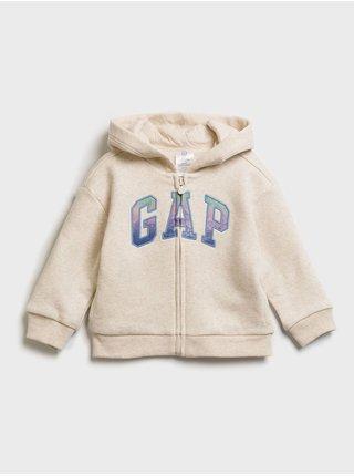 Béžová holčičí mikina GAP Logo