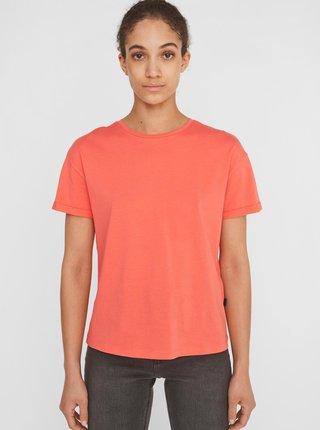 Oranžové basic tričko Noisy May Brandy