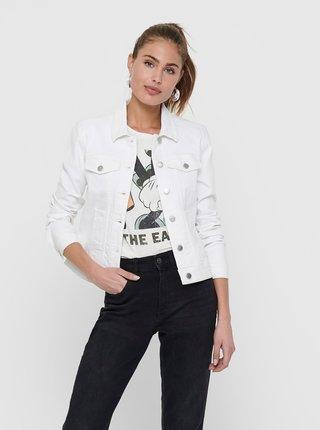 Bílá džínová bunda Jacqueline de Yong Windy