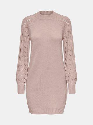 Svetloružové svetrové šaty Jacqueline de Yong Avia