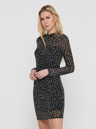 Černé vzorované pouzdrové šaty Jacqueline de Yong Camille