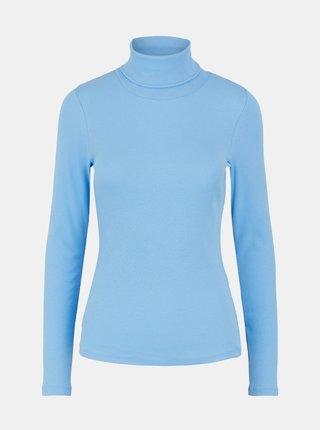 Modré tričko s rolákom Pieces Anna