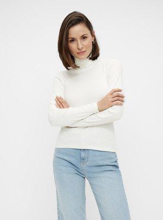 Bílé tričko s rolákem Pieces Anna