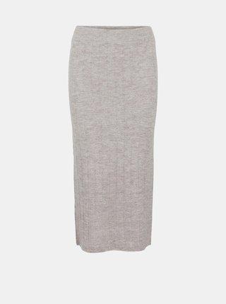 Béžová pouzdrová midi sukně Pieces Giana
