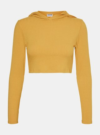 Oranžový crop top s kapucou Noisy May Livia
