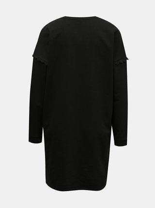 Čierne mikinové šaty Jacqueline de Yong Rikke
