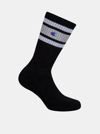 CREW SOCKS CHAMPION PREMIUM UNISEX - 1 pár prémiových športových ponožiek Champion - čierna