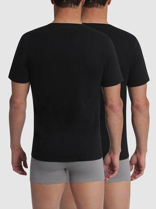 T-SHIRT CHAMPION V-NECK 2x - Bavlněné triko Champion 2 ks - černá