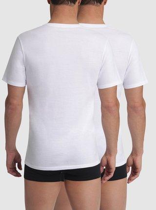 T-SHIRT CHAMPION V-NECK 2x - Bavlněné triko Champion 2 ks - bílá