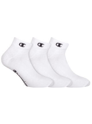 CHAMPION ANKLE SOCKS LEGACY 3x - Športové členkové ponožky 3 páry - biela