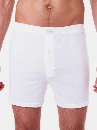 Pánské boxerky COTTON BOXER - Volné pánské bavlněné boxerky - bílá