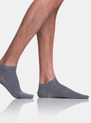 Pánské nízké ponožky BAMBUS AIR IN-SHOE SOCKS - Krátké pánské bambusové ponožky - šedá