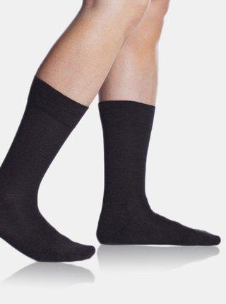 Tmavošedé pánske ponožky Bellinda Bambus Comfort